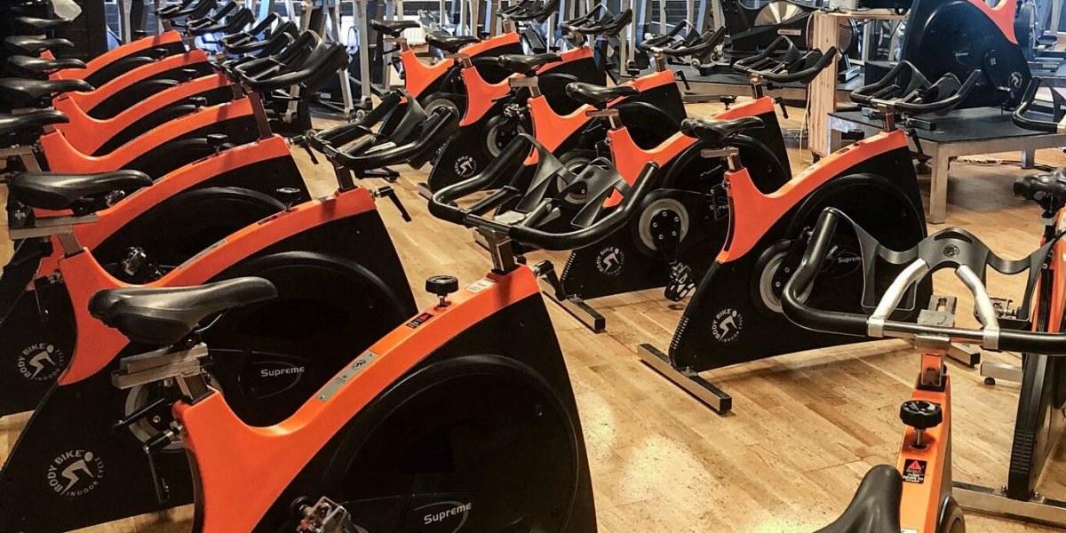 Spinningcykel Supreme BodyBike Orange/Black2-15 st levererade till Kungshamns gymnastikförening